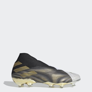 Men Football White Nemeziz+ Firm Ground Boots