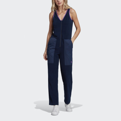 Women's Originals Blue Fleece Jumpsuit