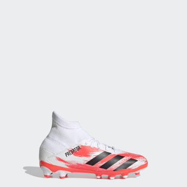 Boys Football White Predator 20.3 Multi-Ground Boots