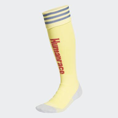 Voetbal geel Arsenal Human Race Voetbalsokken