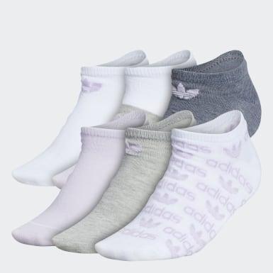 Graphic No-Show Socks 6 Pairs