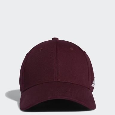 Men's Training Burgundy Structured Flex Hat