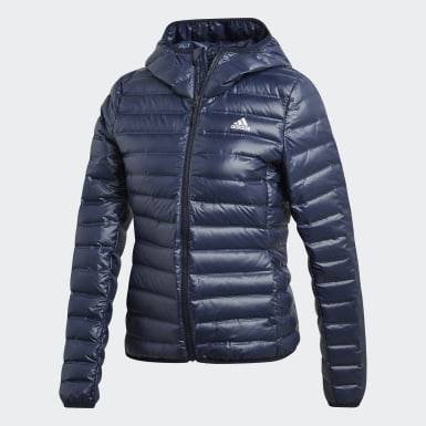 Varilite Hooded Down Jacket Niebieski