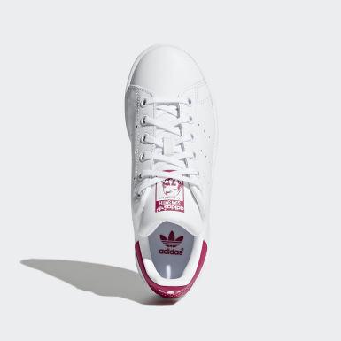 Mädchen Originals Stan Smith Schuh Weiß