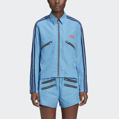 Dam Originals Blå Lotta Volkova Zip Shirt