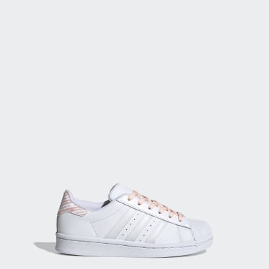 Girls Originals White Superstar Shoes