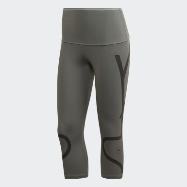 Dam adidas by Stella McCartney Grå TRUEPACE 3/4 Tights