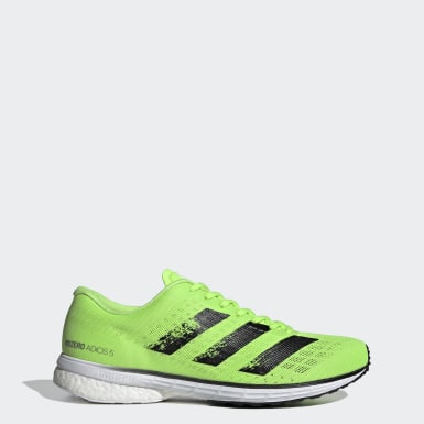 Men Running Green Adizero Adios 5 Shoes