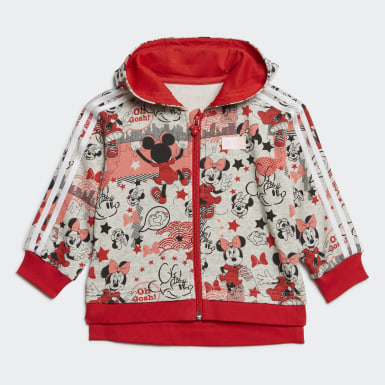 Girls Träning Grå Minnie Mouse Jogger Set