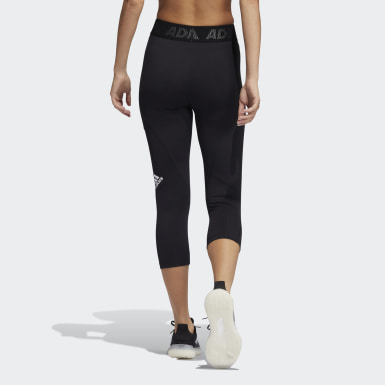 Women's Training Black Techfit 3/4 Tights