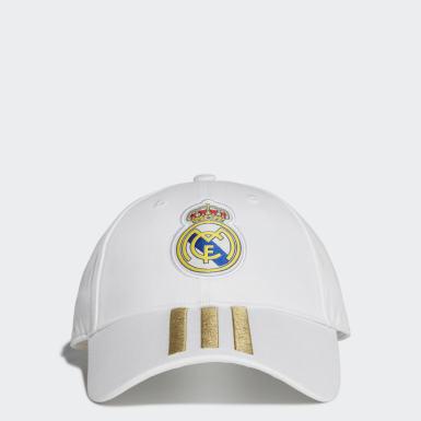 Gorra 3 Franjas Real Madrid (UNISEX) Blanco Fútbol