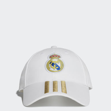 Real Madrid 3-Stripes Cap Bialy