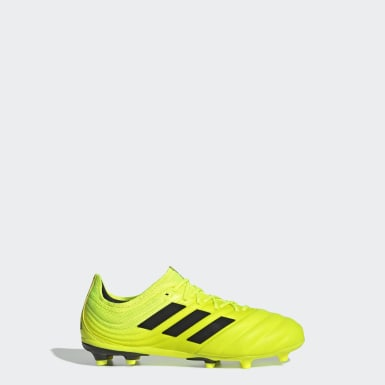 Kids Football Yellow Copa 19.1 Firm Ground Boots