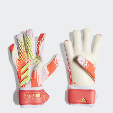 Football White Predator 20 League Gloves