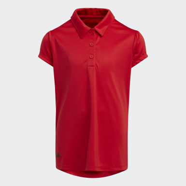 Youth Golf Red Performance Primegreen Polo Shirt