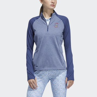 Women's Golf Blue HTR HLF ZP LYR