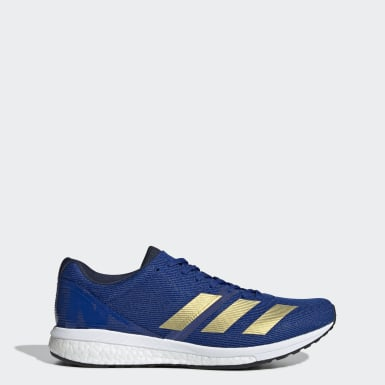 Men Running Blue Adizero Boston 8 Shoes