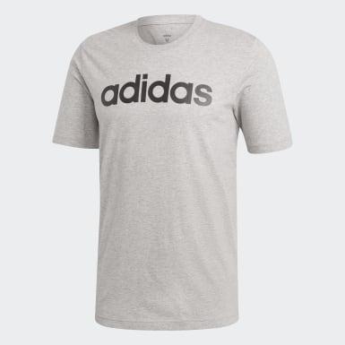Camiseta Logo Essentials Linear Cinza Homem Essentials