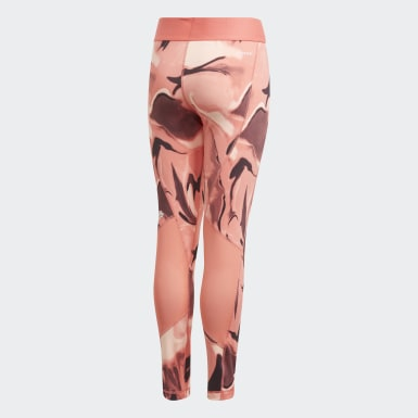 Youth 8-16 Years Training Pink Alphaskin AEROREADY Printed Leggings
