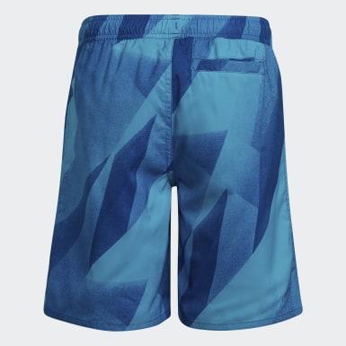 Shorts de Natación Estampados para Niños Turquesa Niño Natación