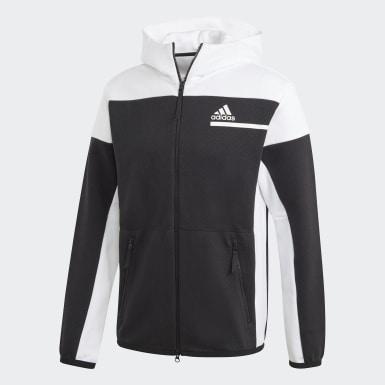 ผู้ชาย Athletics สีดำ เสื้อฮู้ดแต่งซิปยาวเต็มตัว adidas Z.N.E.