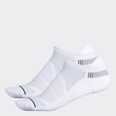Men's Training White Superlite Prime Mesh 3 Tab No-Show Socks 2 Pairs
