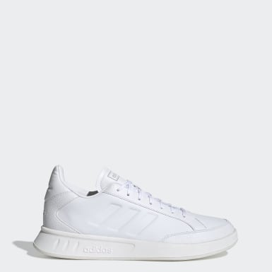 Men Sport Inspired White Netpoint Shoes