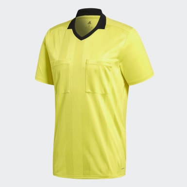 Men Football Yellow Referee Jersey