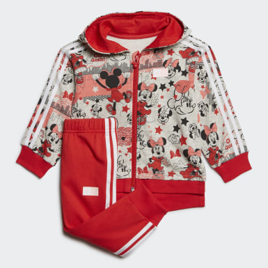 Barn Träning Grå Minnie Mouse Jogger Set