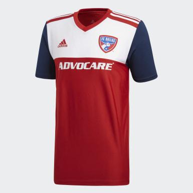 Maillot FC Dallas Domicile Rouge Hommes Football