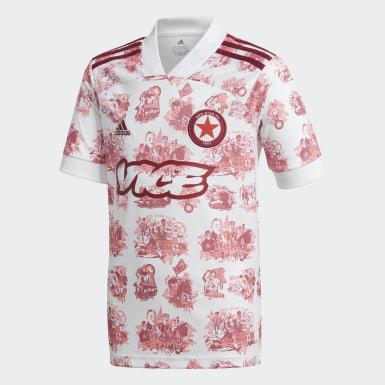 Børn Fodbold Hvid Red Star F.C. 20/21 udebanetrøje