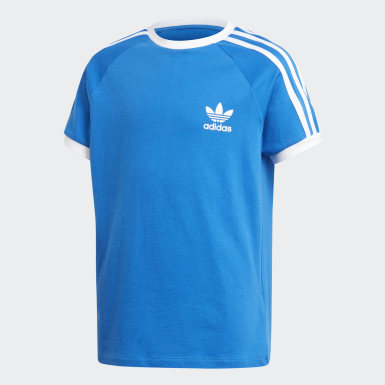 Kinderen Originals Blauw 3-Stripes Shirt