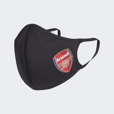 Athletics Sort Arsenal 3-Pack ansigtsklæder, XS/S