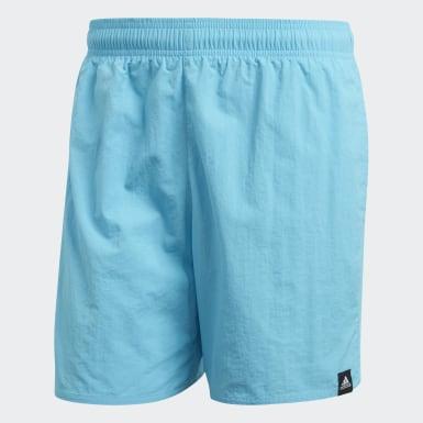 Men Swimming Turquoise Solid Swim Shorts