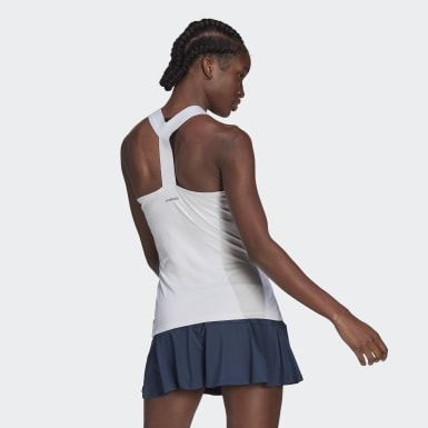 Women's Tennis White Tennis Y-Tank Top