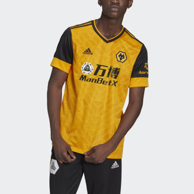 Maillot Domicile Wolverhampton Wanderers 20/21 Jaune Football