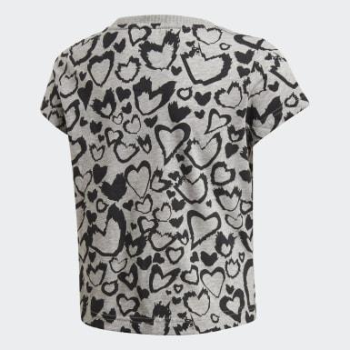 Camiseta Must Haves Graphic Gris Niña Training