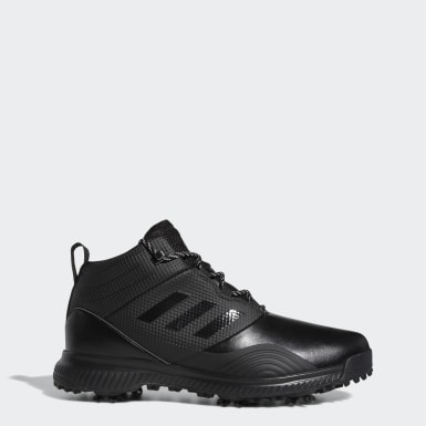 Men Golf Black Climaproof Traxion Mid Shoes
