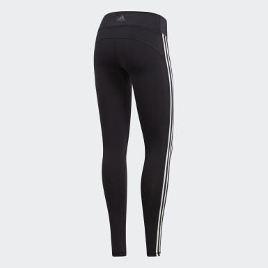 Calça Legging Believe This 3-Stripes Preto Mulher Training