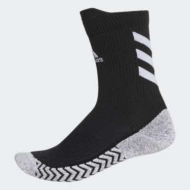 Tennis Black Alphaskin Traxion Crew Socks
