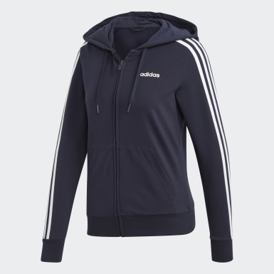 Women's Essentials Blue Essentials 3-Stripes Hoodie