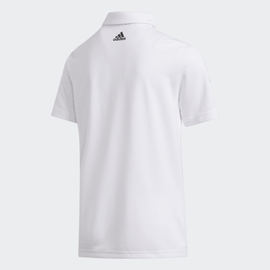 Jongens Golf Wit 3-Stripes Poloshirt