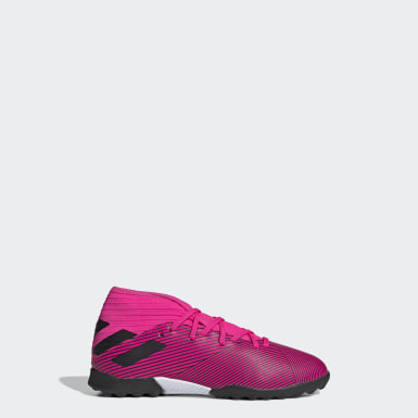 Boys Football Pink Nemeziz 19.3 Turf Boots