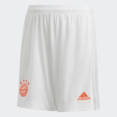 Děti Fotbal bílá Venkovní šortky FC Bayern 20/21