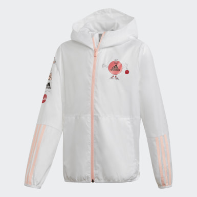 Girls Training White Cleofus Jacket