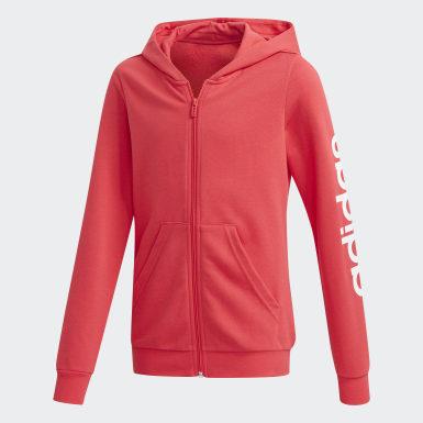 Chaqueta con capucha Linear Rosa Niña Athletics