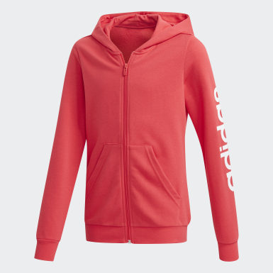 Kinder Athletics Linear Kapuzenjacke Rosa