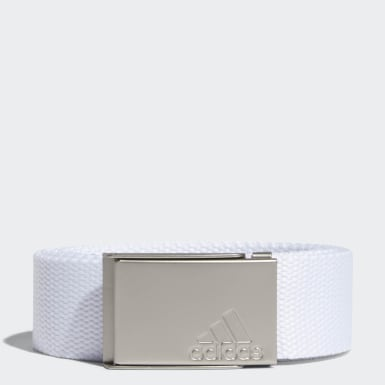 Women Golf White Web Belt