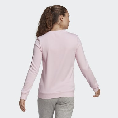Women Sport Inspired Pink Essentials Logo Sweatshirt