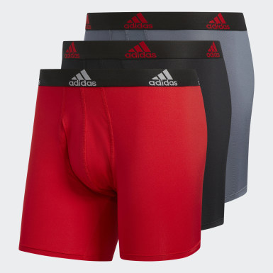 Men's Training Red Climalite Boxer Briefs 3 Pairs